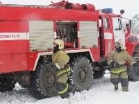 Тульские огнеборцы ликвидировали условное  возгорание в селе Прудное, Фото: 15