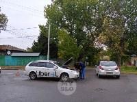 На ул. Тимирязева машина повалила дерево после ДТП с такси, Фото: 6