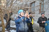 У дома, поврежденного взрывом в Ясногорске, демонтировали опасный угол стены, Фото: 56
