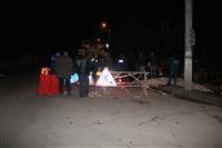 Глубина провала на Одоевском шоссе в Туле - примерно 3 метра, Фото: 7