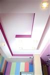 Потолок в детской стал геометрическим продолжением мебели, Фото: 3