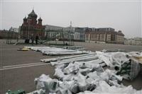 Сборка новогодней елки на площади Ленина, Фото: 3
