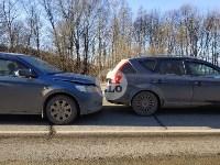 На автодороге «Тула — Новомосковск» столкнулись пять машин, Фото: 1