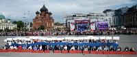Развод караулов Президентского полка на площади Ленина. День России-2016, Фото: 18