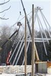 Монтаж колеса обозрения в ЦПКиО. 25 февраля 2014, Фото: 14