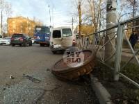 В Туле на машину упал гигантский электрический магнит, Фото: 1