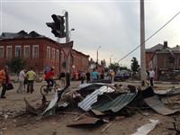 Ураган в Ефремове: шифер и стекла летали как пули, Фото: 3