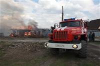 На Калужском шоссе загорелся жилой дом, Фото: 21