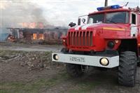 На Калужском шоссе загорелся жилой дом, Фото: 22