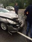 В Тульской области столкнулись две иномарки: есть пострадавшие, Фото: 2