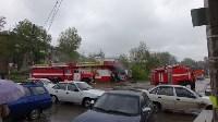 В Ясногорске сгорел продуктовый магазин. 16 мая 2015, Фото: 3