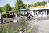 """На ул.9 Мая сгорел рынок """"Салют"""", Фото: 23"""