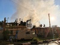 На ул. Баженова в Туле крупный пожар уничтожил жилой дом, Фото: 14