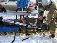 В Щекино спасатели ликвидировали последствия условного ДТП, Фото: 6
