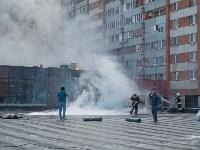 Загорелся недостроенный ТЦ на Красноармейском проспекте, Фото: 52