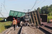 В Тульской области грузовой поезд сошел с рельсов, Фото: 5