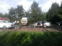 На Орловском шоссе столкнулись «Дэу» и микроавтобус, Фото: 4