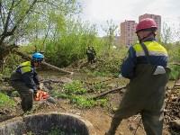В Туле ведется расчистка Щегловского ручья от мусора, Фото: 7