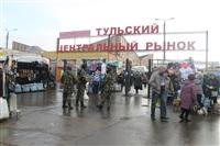 В ходе зачистки на Центральном рынке Тулы задержаны 350 человек, Фото: 2