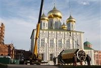 Сборка часового пояса колокольни Тульского Кремля, Фото: 2
