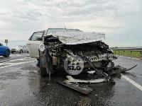 В ДТП на трассе М-2 в Туле у внедорожника оторвало колесо, Фото: 3