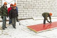 Губернатор посетил строящийся в Богородицке ФОК. 1 апреля 2014, Фото: 1