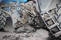 На въезде в Тулу трактор протаранил внедорожник, Фото: 5
