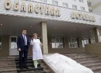 Врио губернатора Тульской области Алексей Дюмин в детской областной больнице, Фото: 8