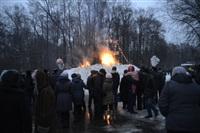 В ЦПКиО сожгли чучело зимы, Фото: 39