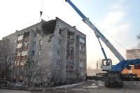 У дома, поврежденного взрывом в Ясногорске, демонтировали опасный угол стены, Фото: 54