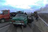 Причиной массового ДТП под Тулой стал дым с горящих полей, Фото: 5