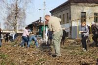 Генеральную уборку в Туле на Пролетарской набережной провели работники КБП, Фото: 7