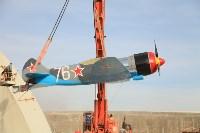 Установка копии Ла-5ФН на несущую опору мемориала «Защитникам неба Отечества» , Фото: 15
