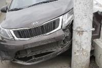 """""""Киа"""" врезалась в столб на Пролетарском мосту, Фото: 2"""