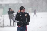 «Арсенал» готовится на снежном поле к игре против «Тосно», Фото: 1