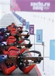 Спортсмены сборной России по биатлону на тренировке перед началом XXII зимних Олимпийских игр в Сочи., Фото: 4