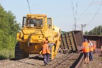 В Тульской области грузовой поезд сошел с рельсов, Фото: 40