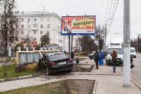 ДТП на пр. Ленина: BMW снес остановку, Фото: 1