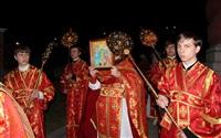 Пасхальная служба в Успенском соборе. 20.04.2014, Фото: 25