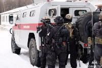 Учения: В Тульской области СОБР и ОМОН обезвредили вооруженных преступников, Фото: 10