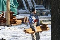 Монтаж колеса обозрения в ЦПКиО. 25 февраля 2014, Фото: 10