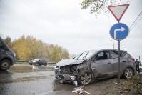 На Рязанском шоссе «Хёндэ» столкнулась с микроавтобусом, Фото: 5