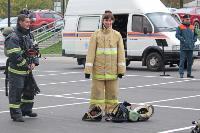 Тульские пожарные провели соревнования по бегу на 22-этаж, Фото: 17