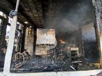 На ул. Баженова в Туле крупный пожар уничтожил жилой дом, Фото: 6