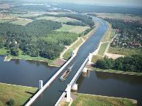 Магдебургский водный мост, Германия, Фото: 12
