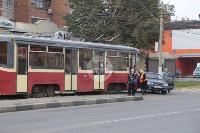 В Криволучье трамвай протаранил легковушку, Фото: 6
