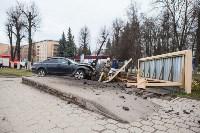 ДТП на пр. Ленина: BMW снес остановку, Фото: 13