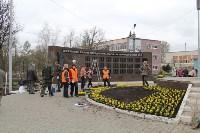 Евгений Авилов проинспектировал ход работ по благоустройству. 23 апреля 2016 года, Фото: 1