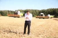 Владимир Груздев принял участие в уборочной кампании, Фото: 11