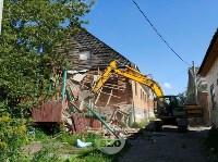 В Плеханово вновь сносят незаконные дома цыган, Фото: 21